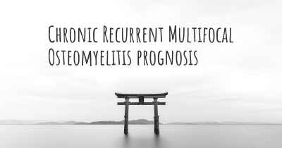 Chronic Recurrent Multifocal Osteomyelitis prognosis
