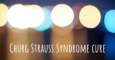 Churg Strauss Syndrome cure
