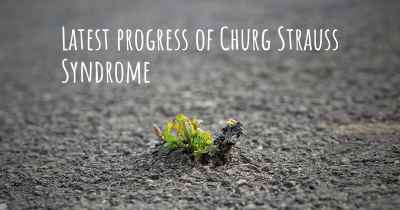 Latest progress of Churg Strauss Syndrome