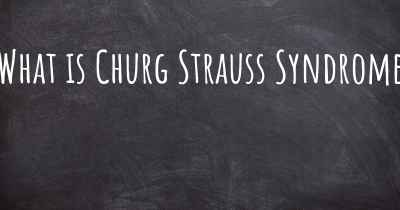 What is Churg Strauss Syndrome