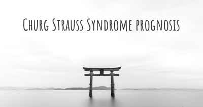 Churg Strauss Syndrome prognosis