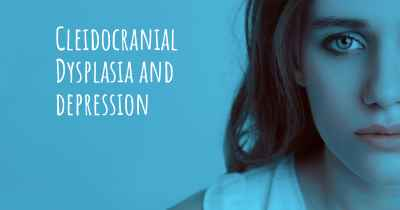 Cleidocranial Dysplasia and depression