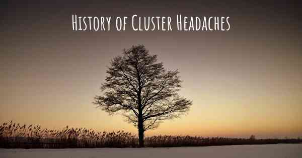 History of Cluster Headaches