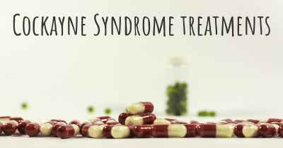 Cockayne Syndrome treatments