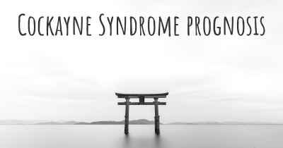Cockayne Syndrome prognosis