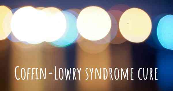 Coffin-Lowry syndrome cure