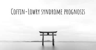 Coffin-Lowry syndrome prognosis