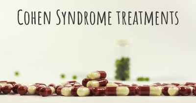 Cohen Syndrome treatments