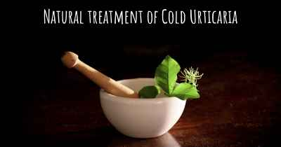 Natural treatment of Cold Urticaria