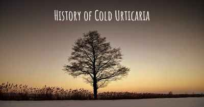 History of Cold Urticaria