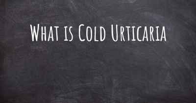 What is Cold Urticaria