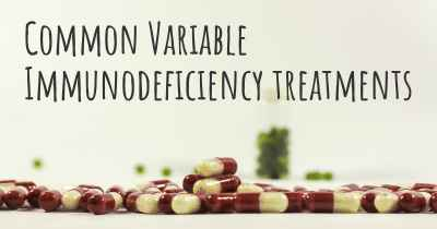 Common Variable Immunodeficiency treatments