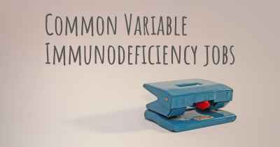Common Variable Immunodeficiency jobs