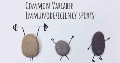 Common Variable Immunodeficiency sports