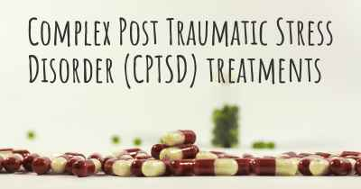 Complex Post Traumatic Stress Disorder (CPTSD) treatments