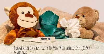 Congenital Insensitivity To Pain With Anhidrosis (CIPA) symptoms