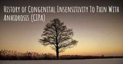 History of Congenital Insensitivity To Pain With Anhidrosis (CIPA)