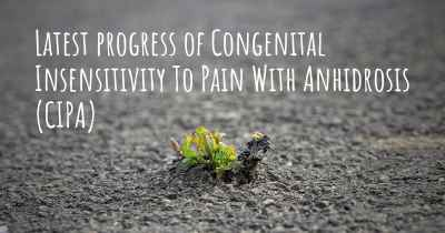 Latest progress of Congenital Insensitivity To Pain With Anhidrosis (CIPA)