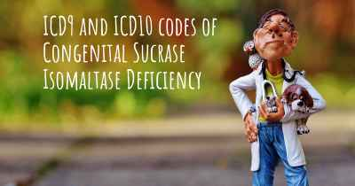 ICD9 and ICD10 codes of Congenital Sucrase Isomaltase Deficiency