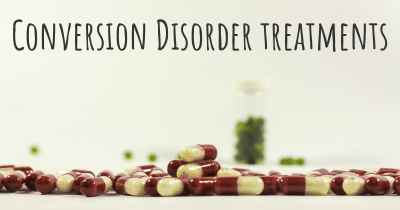 Conversion Disorder treatments