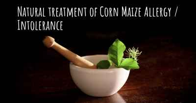 Natural treatment of Corn Maize Allergy / Intolerance
