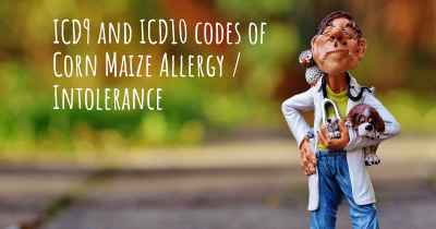 ICD9 and ICD10 codes of Corn Maize Allergy / Intolerance