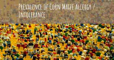 Prevalence of Corn Maize Allergy / Intolerance