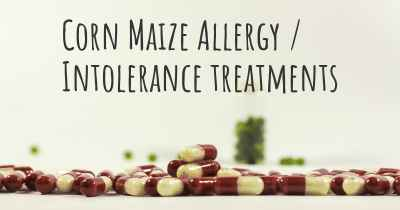 Corn Maize Allergy / Intolerance treatments