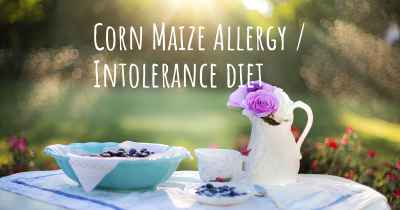 Corn Maize Allergy / Intolerance diet