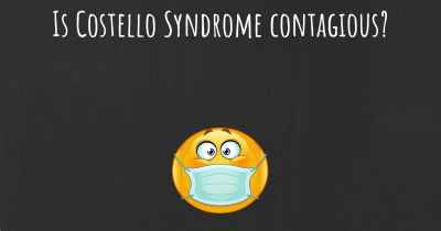 Is Costello Syndrome contagious?