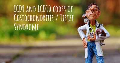 ICD9 and ICD10 codes of Costochondritis / Tietze Syndrome