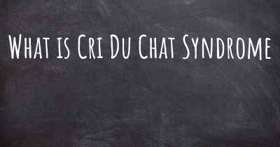 What is Cri Du Chat Syndrome