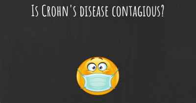 Is Crohn's disease contagious?