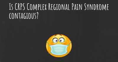 Is CRPS Complex Regional Pain Syndrome contagious?