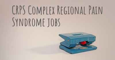 CRPS Complex Regional Pain Syndrome jobs