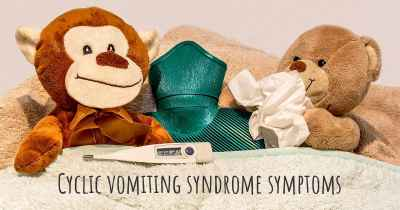 Cyclic vomiting syndrome symptoms