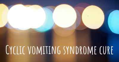 Cyclic vomiting syndrome cure