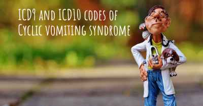 ICD9 and ICD10 codes of Cyclic vomiting syndrome