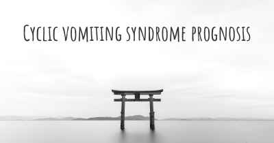 Cyclic vomiting syndrome prognosis