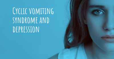 Cyclic vomiting syndrome and depression