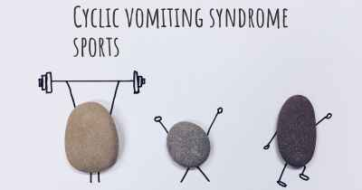 Cyclic vomiting syndrome sports