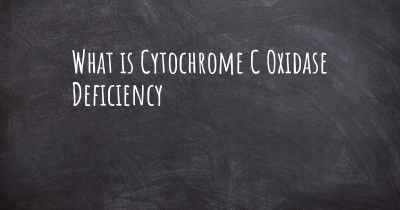 What is Cytochrome C Oxidase Deficiency
