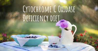 Cytochrome C Oxidase Deficiency diet