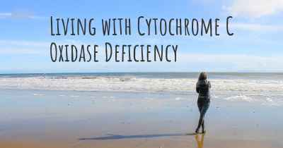 Living with Cytochrome C Oxidase Deficiency