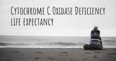 Cytochrome C Oxidase Deficiency life expectancy