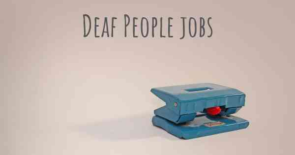 jobs with deaf people