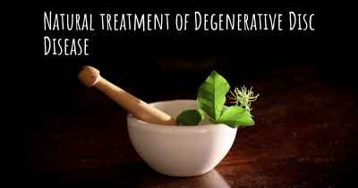 Natural treatment of Degenerative Disc Disease