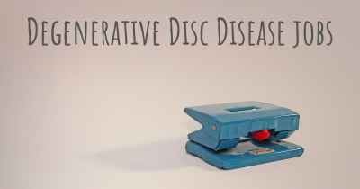Degenerative Disc Disease jobs