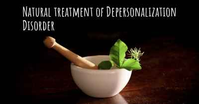 Natural treatment of Depersonalization Disorder