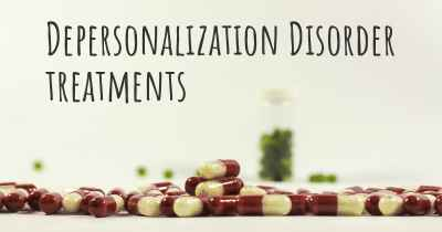 Depersonalization Disorder treatments